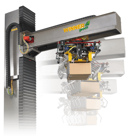 Rotating Palletizer Robot, palletising solution, Winner Green